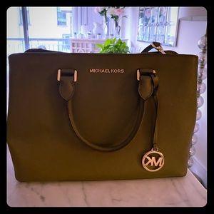 Michael Kors Army Green Handbag